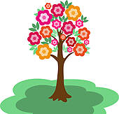 170x163 Flowering Tree Clip Art