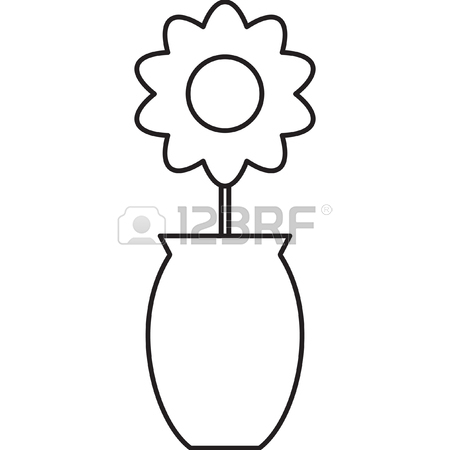450x450 Flower In A Vase Royalty Free Cliparts, Vectors, And Stock