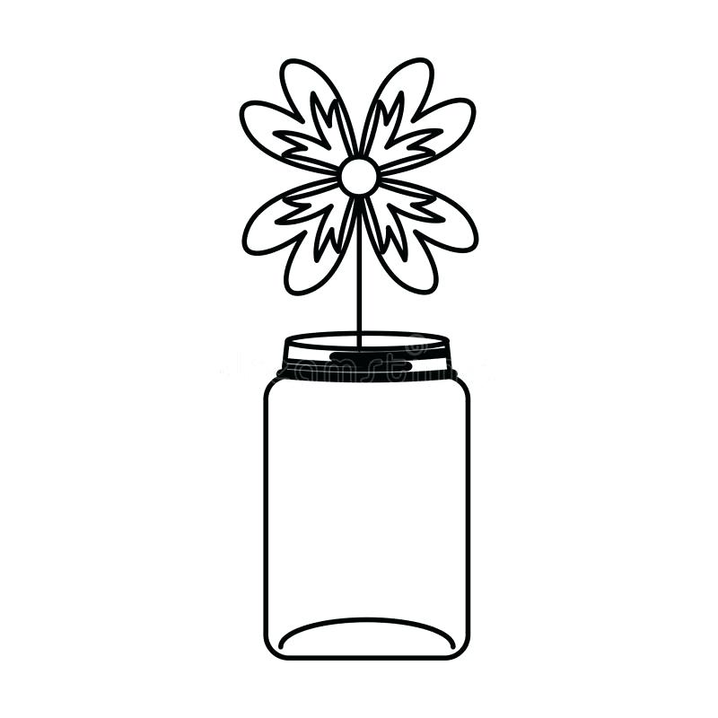 800x800 Free Mason Jar Clipart Download Mason Jar With Flowers Isolated