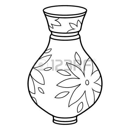 450x450 Vase Clipart Black And White