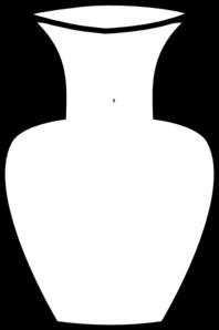 198x298 White Flower Vase Clip Art