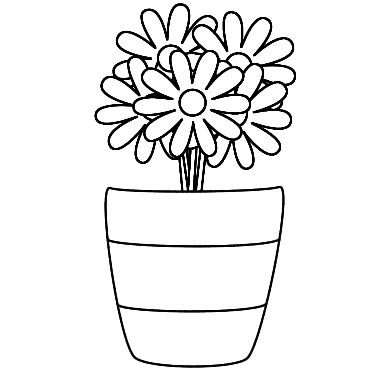 1200x1200 Coloring Pages Of Flowers In A Vase Vase Flower