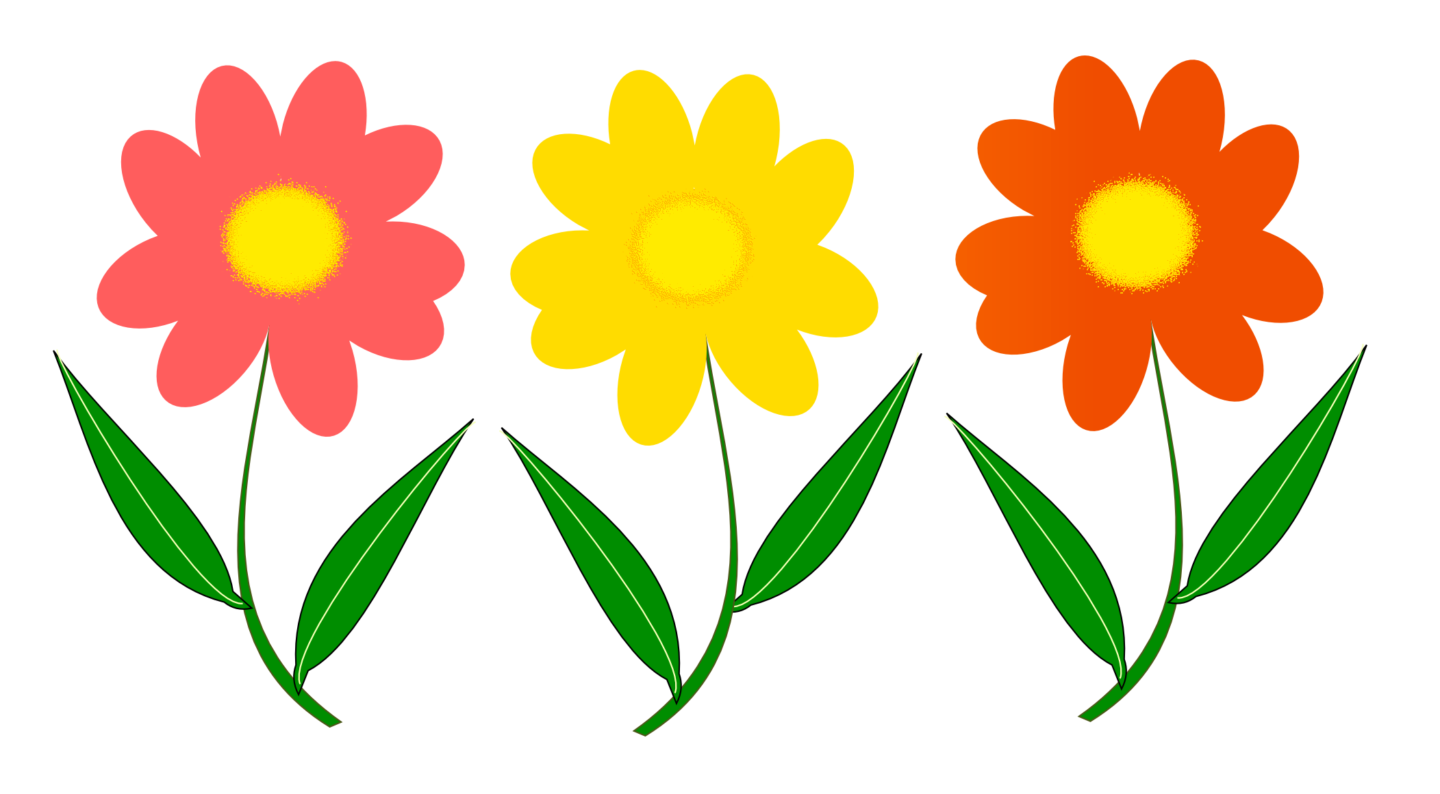 2103x1160 Flowers Vector Png Transparent Image