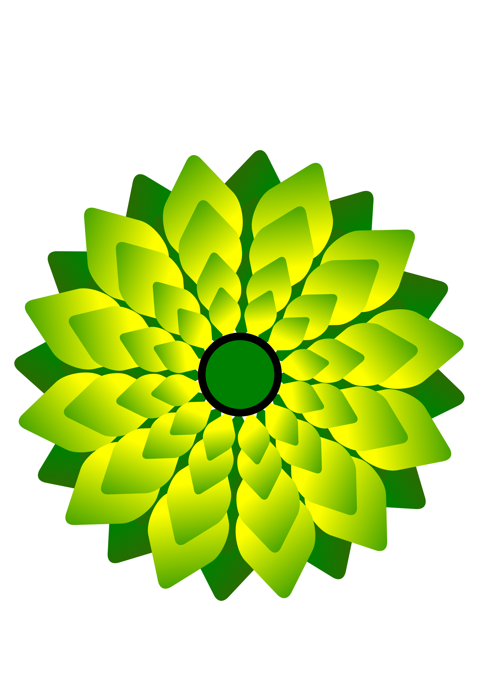 1697x2400 Free Stock Photo Of Green Digital Flower Vector Art