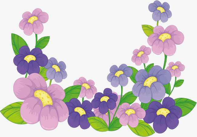 650x451 Pink Purple Flowers, Vector Png, Flowers In Clusters, Pink Purple