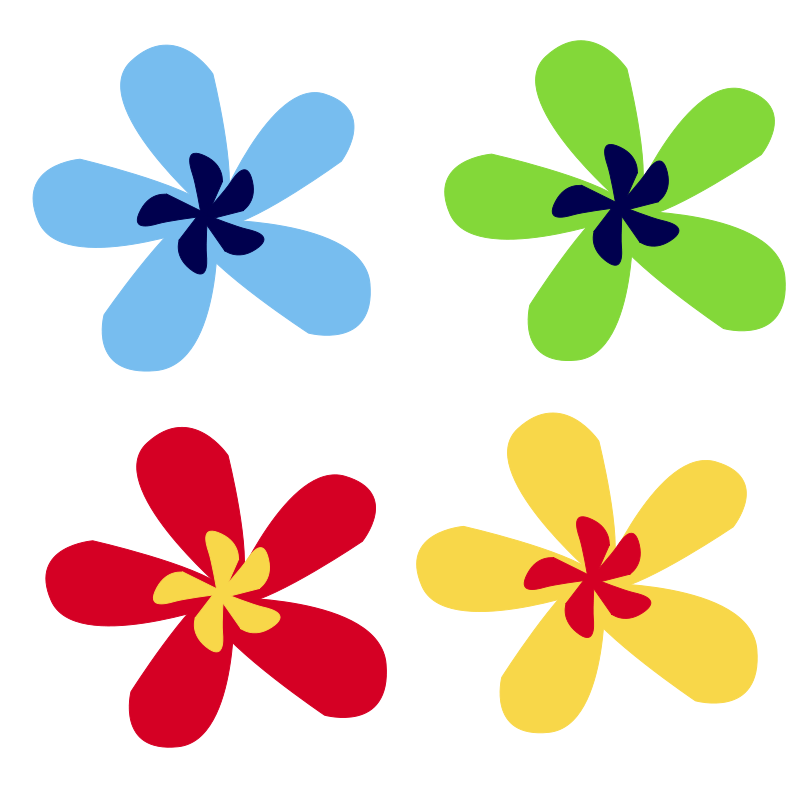 800x800 Rainbow Flower Free Vector 4vector