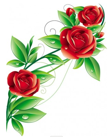 349x439 Beautiful Flowers Vector 02 Ai,eps Format Free Vector Download