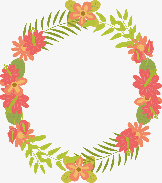 650x738 Round Cute Flower Borders, Vector Png, Round Border, Lovely