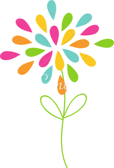 372x550 Colorful Flower Vector