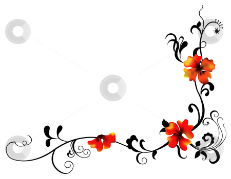 450x350 Drawn Vine Flower Vine