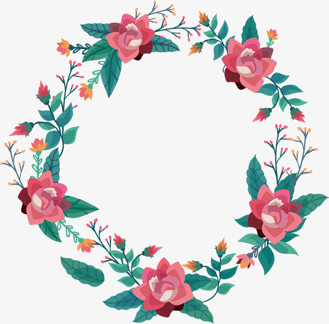 650x639 Exquisite Pink Flower Vine, Vector Png, Garland, Pink Flowers Png