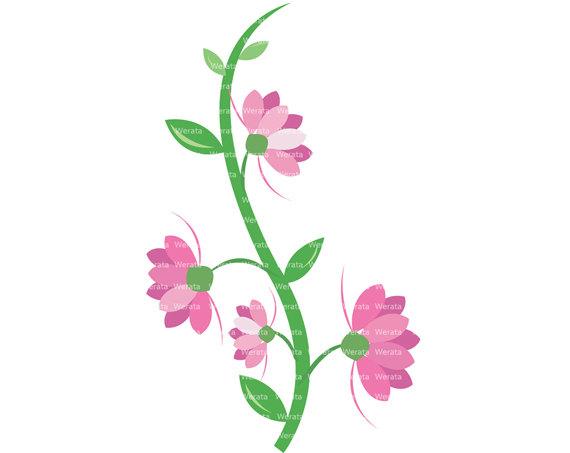 570x453 Floral Clipart Vine