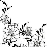 200x200 Flower Vine Drawings