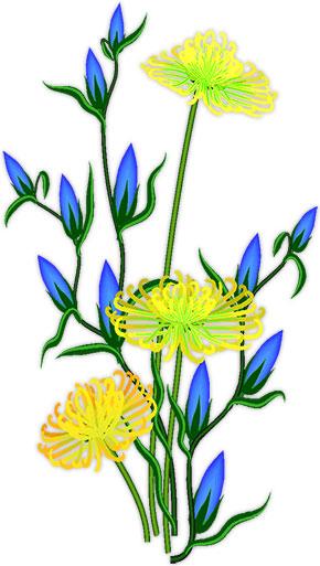 290x513 Graphics For Blue Flower Vine Graphics