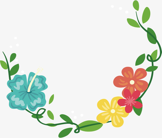 650x551 Romantic Summer Flower Vine Decoration Box, Vector Png, Romantic