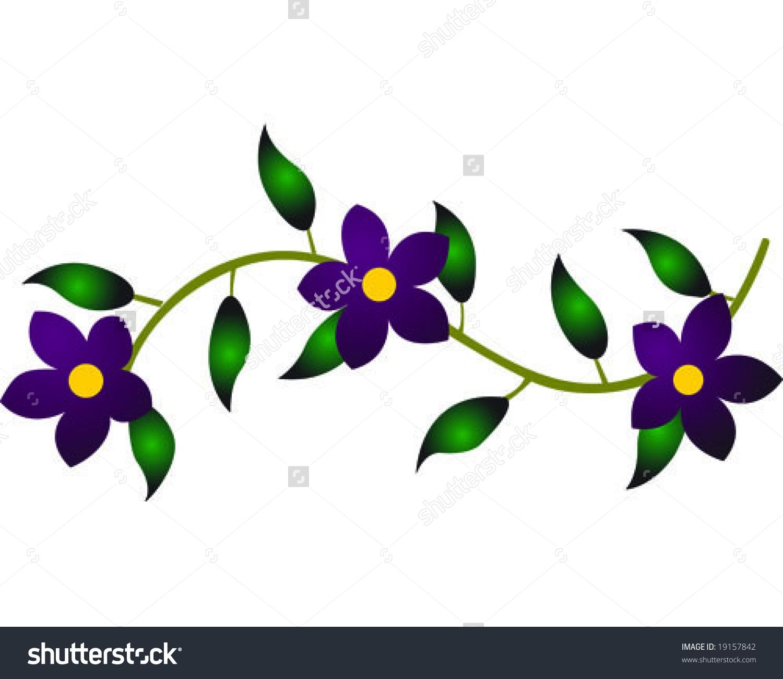 1500x1300 Vine Clipart Flower Vine