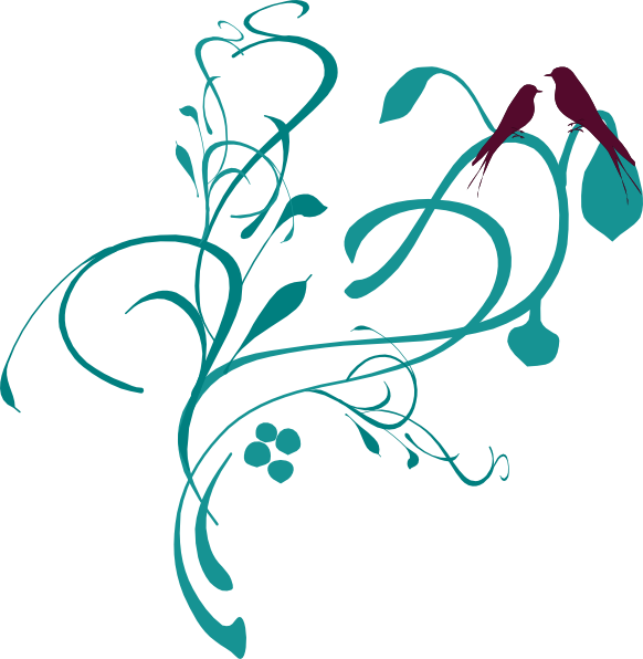 582x596 Clip Art Flowers And Vines 2