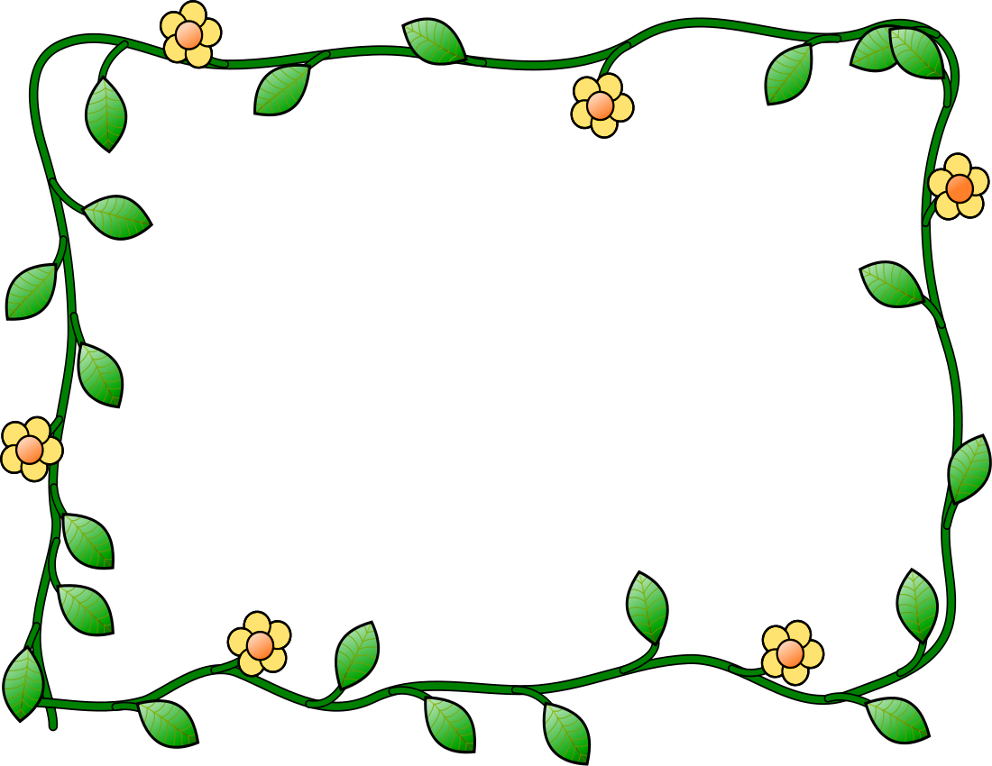 1100x850 Clip Art Flowers And Vines 3