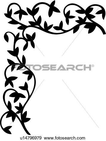 355x470 Floral Clipart Leaf Vine