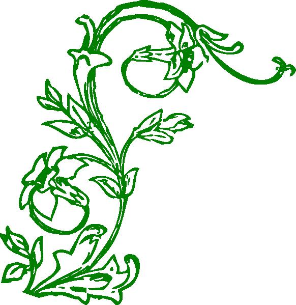 582x599 Flowering Vine Clip Art
