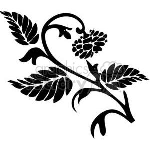 300x300 Royalty Free Flower Vine 380157 Vector Clip Art Image