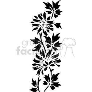 300x300 Royalty Free Vine Of Flowers 380096 Vector Clip Art Image