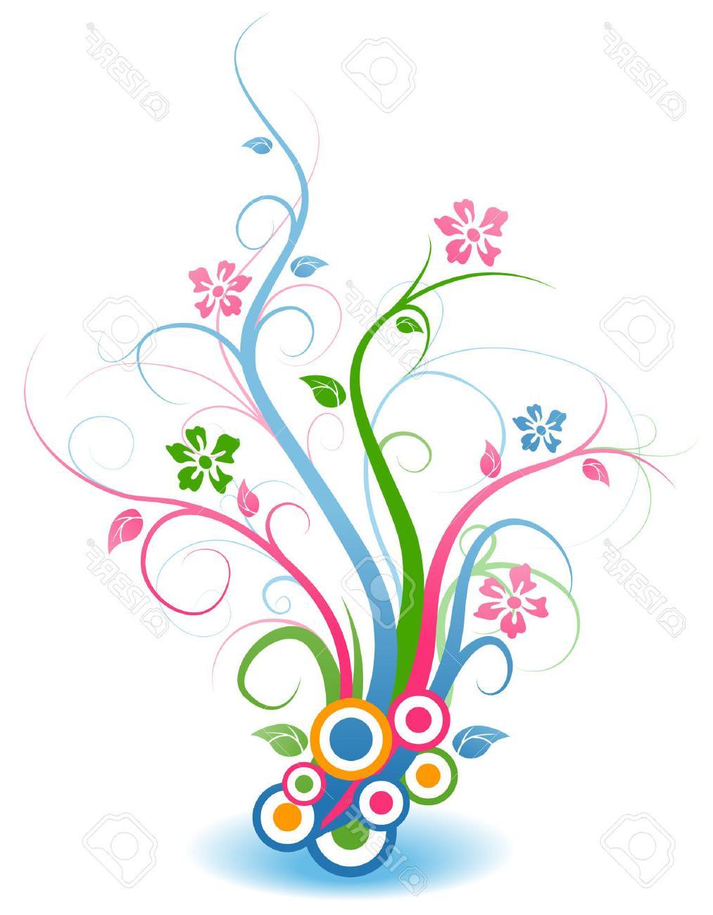 1013x1300 Best Hd Floral Vines Stock Vector Flower Art Clip Pictures