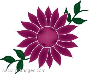 300x248 Clip Art Of A Flower Bloom With Vines