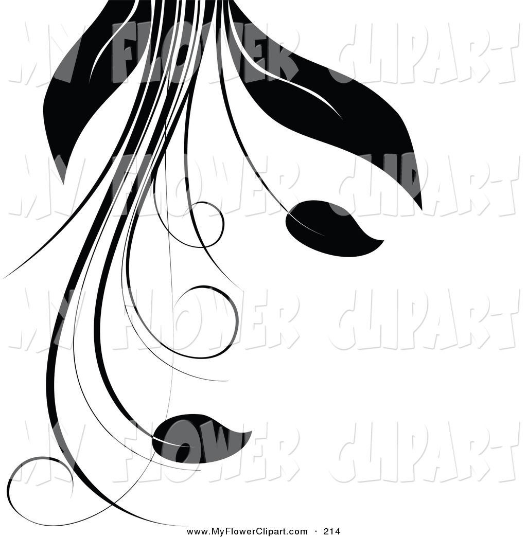1024x1044 Clip Art Of A Silhouetted Plant With Vines, Long Leaves