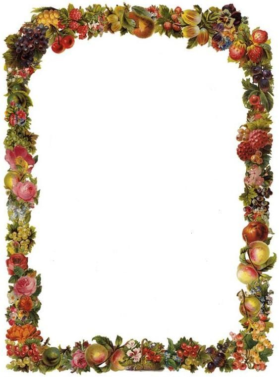 563x762 Free Victorian Flowers And Vintage Fruit Clip Art And Borders
