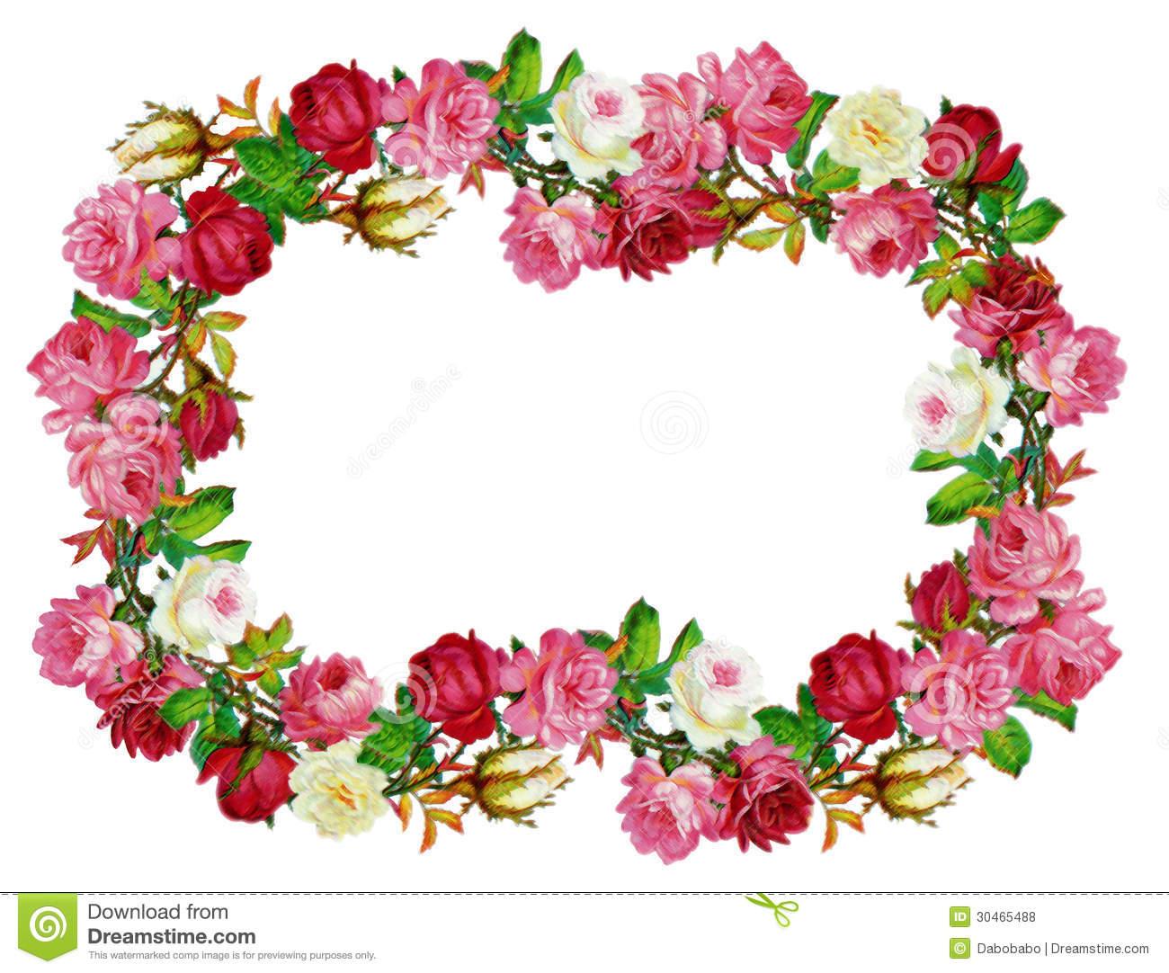 1300x1082 Vintage Rose Border Clipart