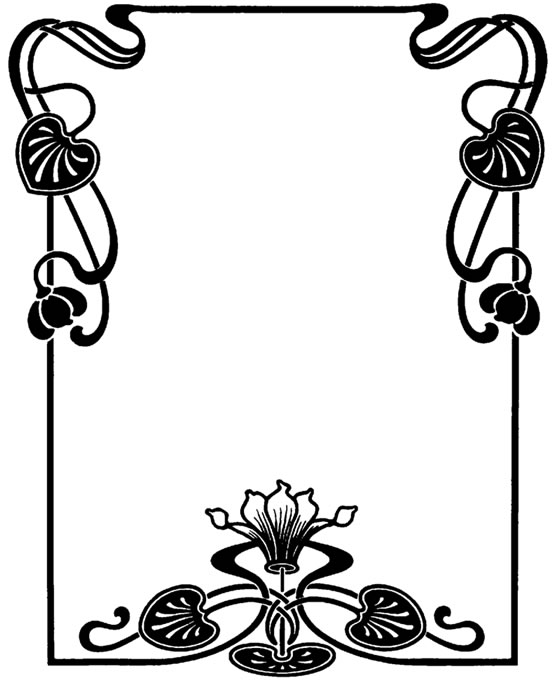 559x680 Flower Art Deco Clipart