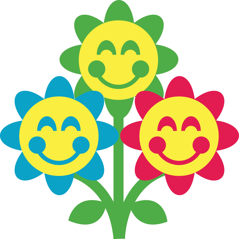 3000x2993 Blue Flower Clipart Face