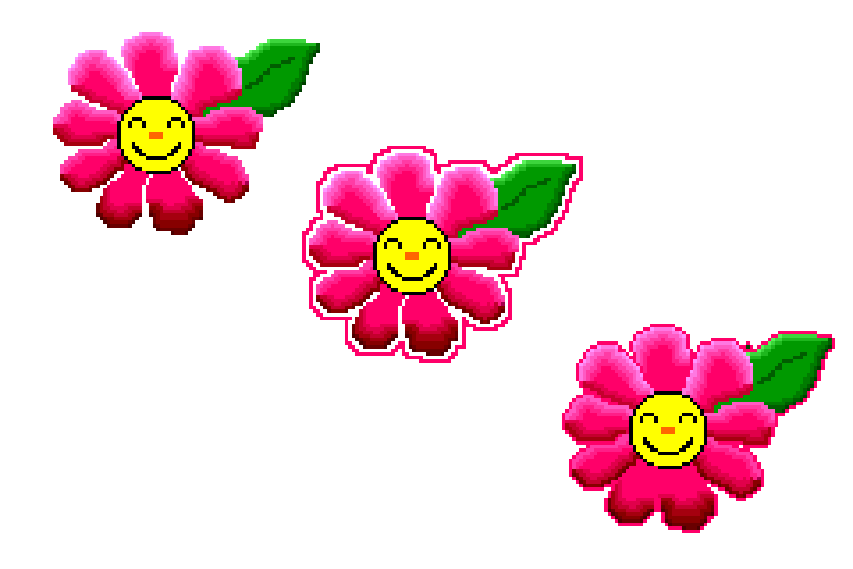 960x640 Smiley Flowers On Pink