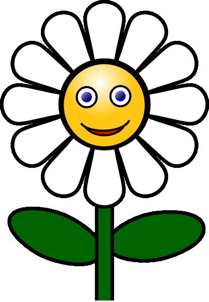 414x599 Smiling Flower Clip Art