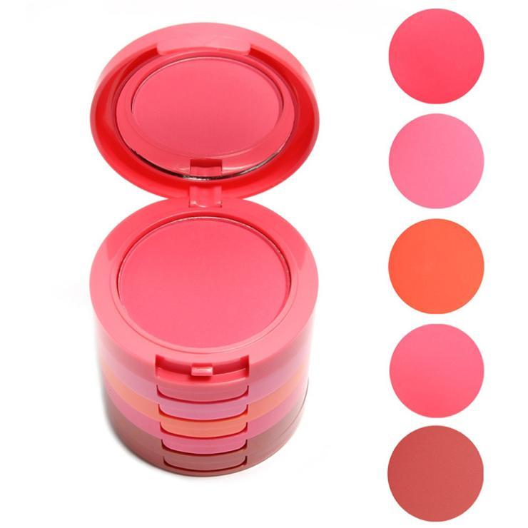 740x740 Wholesale Music Flower Blusher Palette With Brush Waterproof Blush