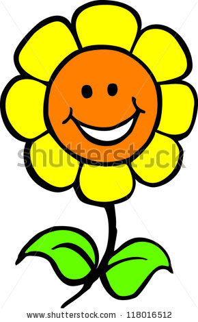 290x470 Yellow Flower Clipart Smiley Flower