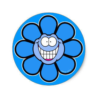 324x324 Blue Flower Clipart Face