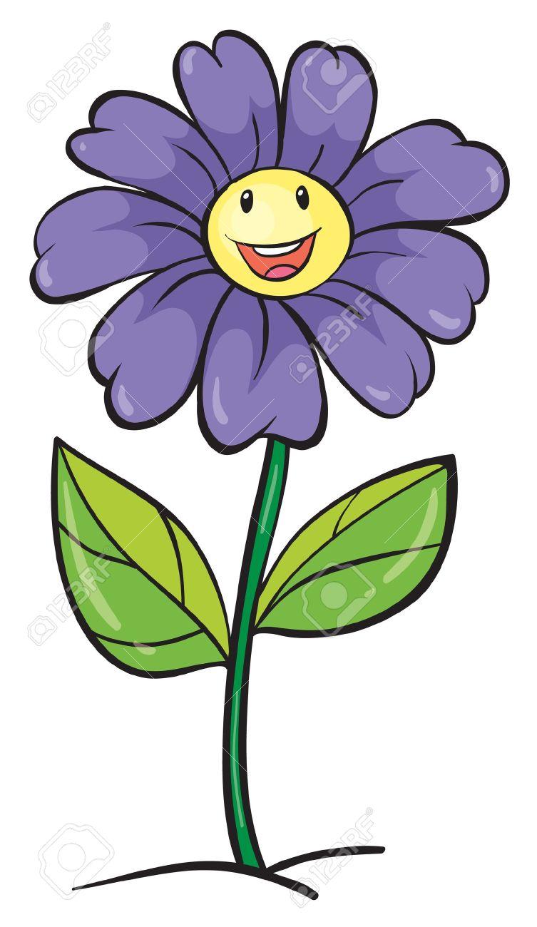 753x1300 Blue Flower Clipart Face