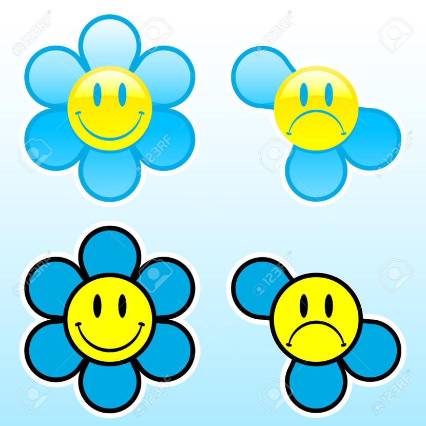 830x830 Blue Flower Clipart Smiley Flower