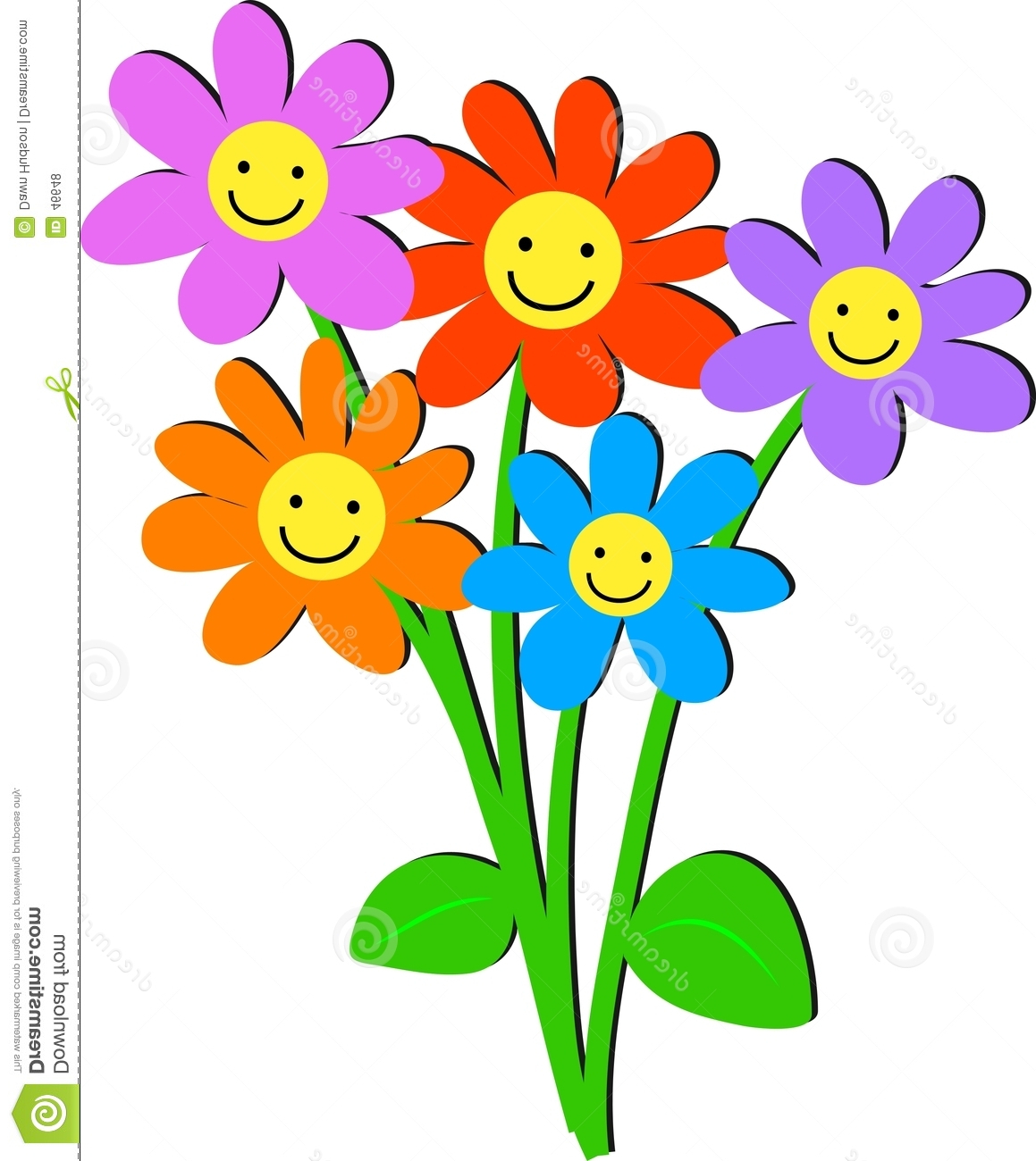 1159x1300 Cartoon Flowers With Faces