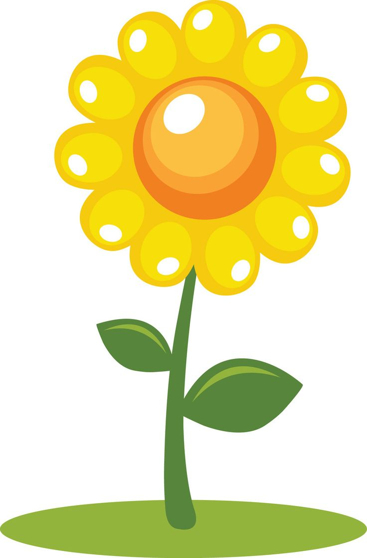 Flower With Roots Clipart