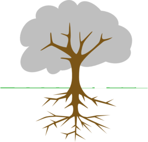 297x285 Tree Roots Clipart