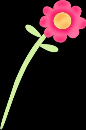 277x421 Blue Flower Clipart Stems Clipart