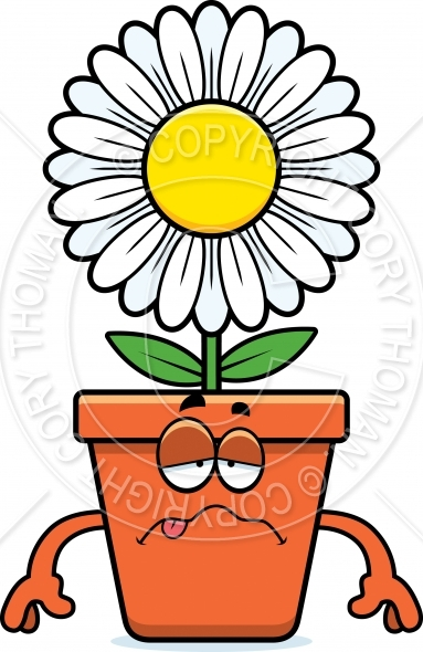 383x590 Sick Cartoon Flowerpot Vector And Royalty Free License