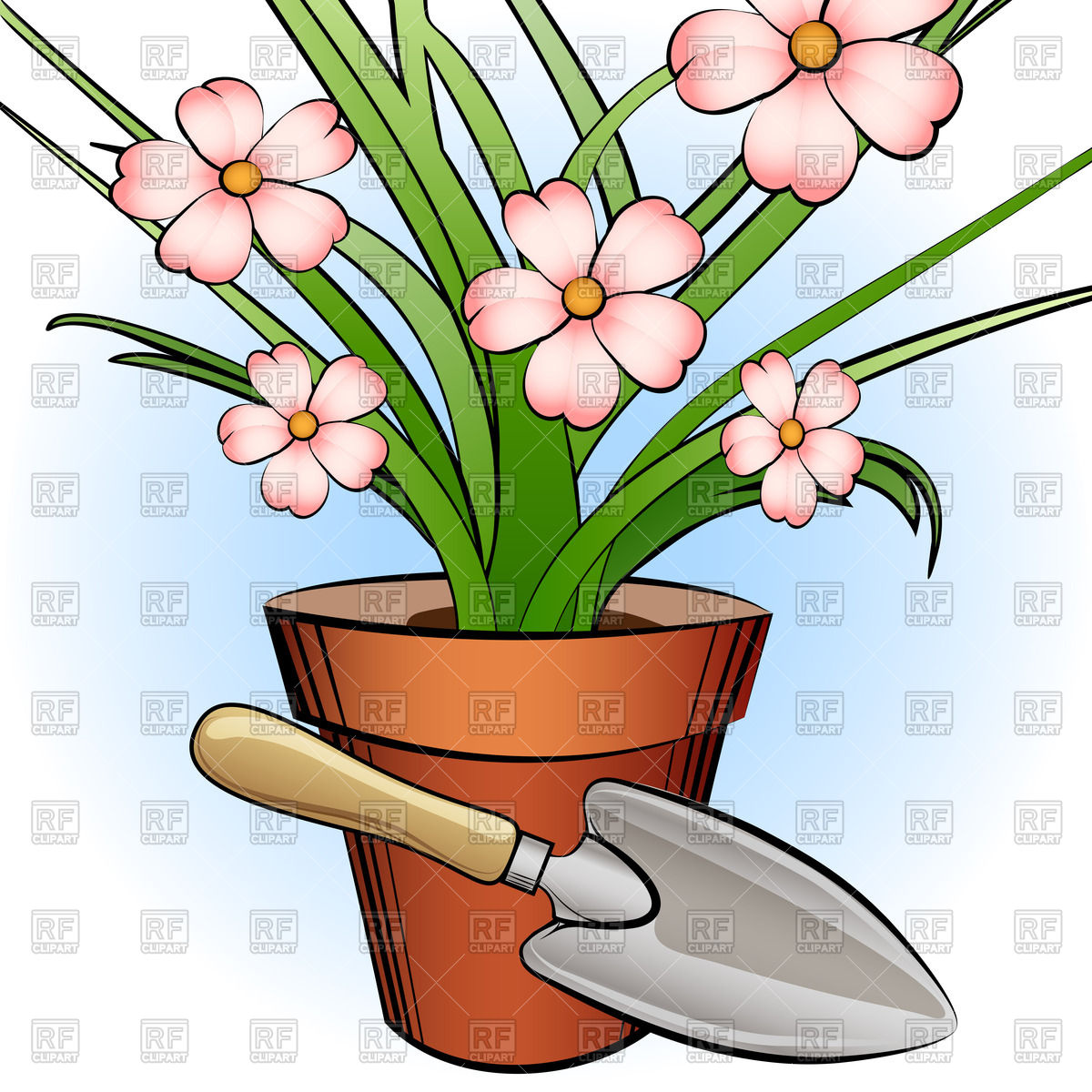 1200x1200 Window Plant And Garden Shovel Royalty Free Vector Clip Art Image