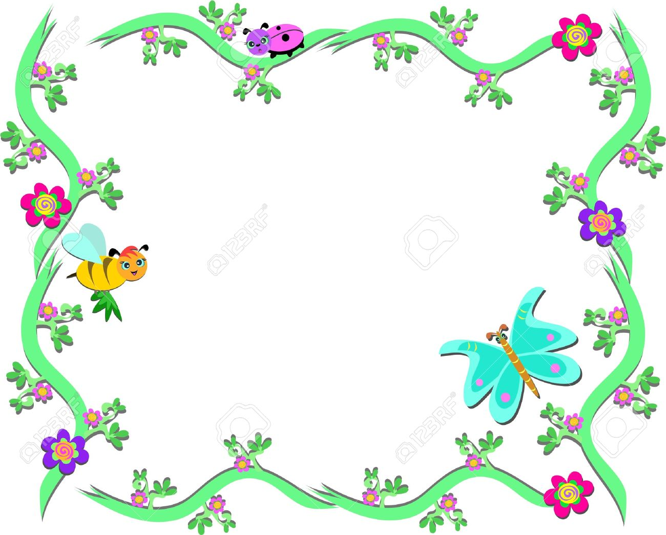 1300x1045 Frame Clipart Butterfly