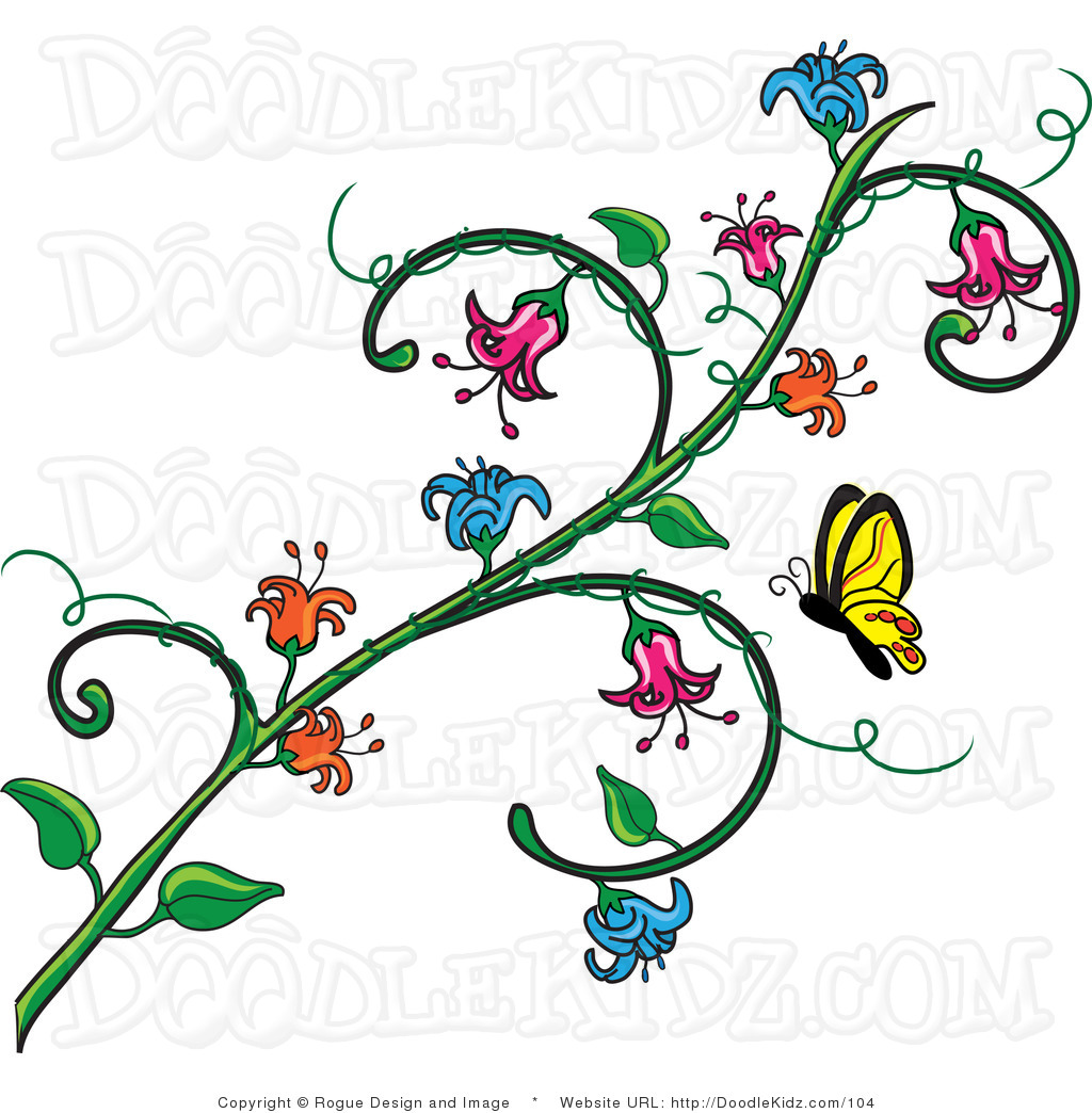 1024x1044 Free Flower Vine Clip Art