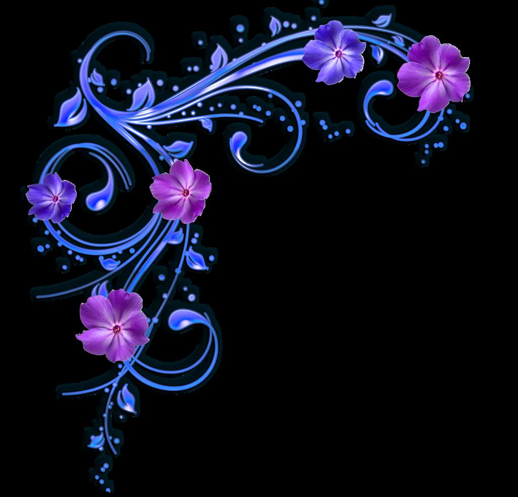 1024x983 Purple Flower Clipart Flower Border