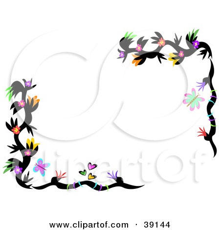 450x470 Butterflies And Flowers Clipart
